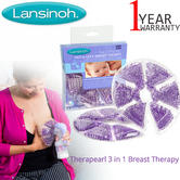 Lansinoh Therapearl 3 in 1 Hot Or Cold Breast Therapy Soothing | 2 x Reusable Pack