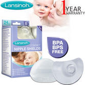 New Lansinoh Contact Nipple Shields | Baby/Kids Feeding Accessories | BPA Free | 24mm