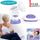 Lansinoh Single Electric Breast Pump | Baby Feeding Accessories | Comfortable+Quick
