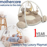 Mothercare Teddy's Toy Luxury Playmat & Arch | Kids TummyTime Play Gym With 5 Toys