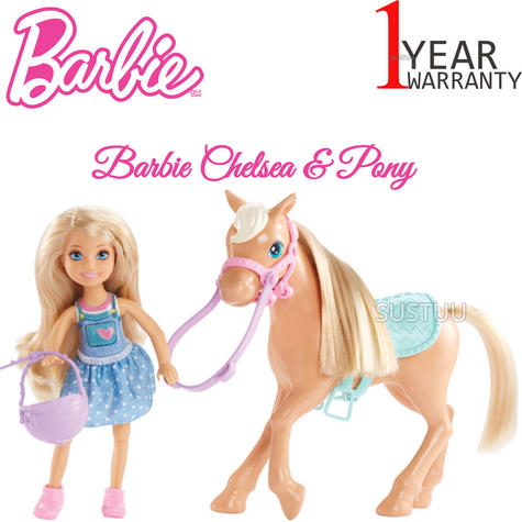 Barbie Chelsea & Pony | Baby/Kid/Toddler's Funtime Playset | Realistic | Giftware | +3yr Thumbnail 1