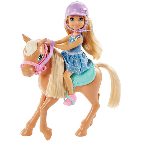 Barbie Chelsea & Pony | Baby/Kid/Toddler's Funtime Playset | Realistic | Giftware | +3yr Thumbnail 2