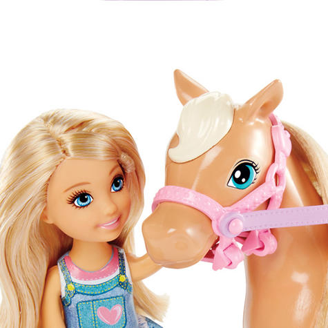 Barbie Chelsea & Pony | Baby/Kid/Toddler's Funtime Playset | Realistic | Giftware | +3yr Thumbnail 7