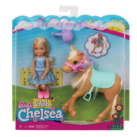 Barbie Chelsea & Pony | Baby/Kid/Toddler's Funtime Playset | Realistic | Giftware | +3yr Thumbnail 8