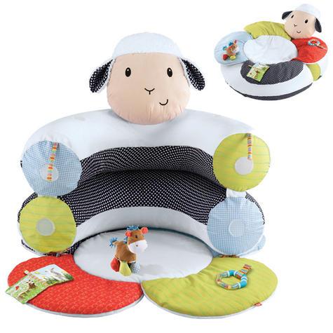 ELC Blossom Farm Lily Lamb Sit Me Up Cosy   Kids Soft Tummy Time Play Mat   x3 Toys Thumbnail 2