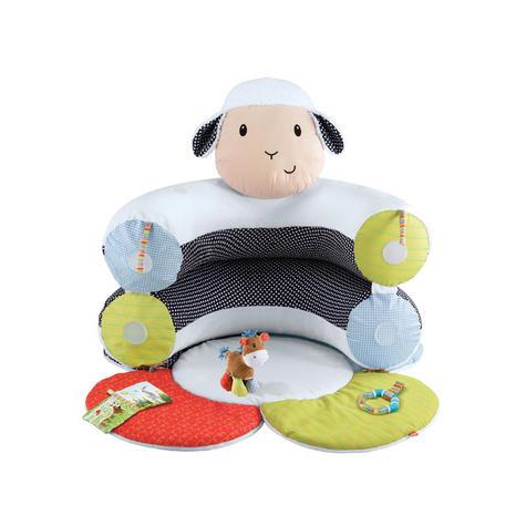 ELC Blossom Farm Lily Lamb Sit Me Up Cosy   Kids Soft Tummy Time Play Mat   x3 Toys Thumbnail 4