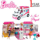 Barbie Large Medical Rescue Vehicle | Baby's Ambulance-Hospital 2 in 1 playset | With Sound | +3 Year