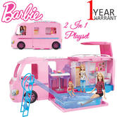 Barbie Camper | Baby/Toddler's DreamCamper To Campsite 2 In 1 Fun Playset | Realistic | +3 Year