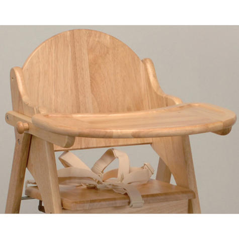 East Coast Folding Highchair | Kids Wooden Chair With Safety harness | Easy Storage Thumbnail 3