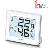 Beurer Thermo Hygrometer | Indoor Climate Monitor | Displays Temperature & Humidity
