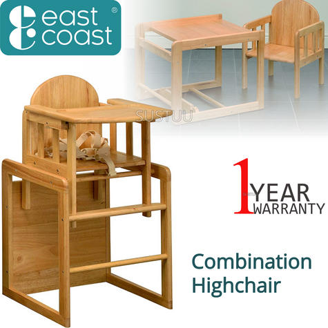 East Coast Combination Highchair | Kids Dual Purpose Chair With Safety Harness | New Thumbnail 1