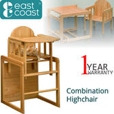 East Coast Combination Highchair | Kids Dual Purpose Chair With Safety Harness | New