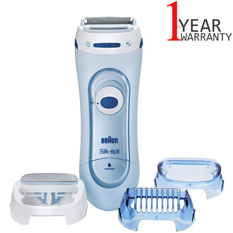 Braun Silk Epil Wet & Dry Electric Lady Shaver | Womens Legs & Body | 3 Attachments Thumbnail 1