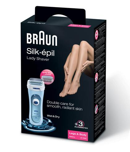 Braun Silk Epil Wet & Dry Electric Lady Shaver | Womens Legs & Body | 3 Attachments Thumbnail 6