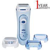 Braun Silk Epil Wet & Dry Electric Lady Shaver | Womens Legs & Body | 3 Attachments