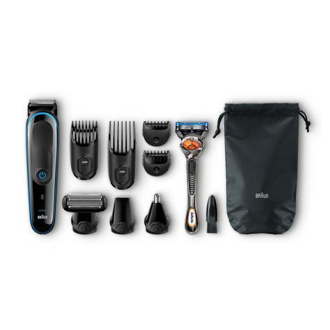 Braun Multi Groom Kit 9 in 1 | Beard/Body Trimmer & Shaver | Gillette Proglide Razor Thumbnail 2