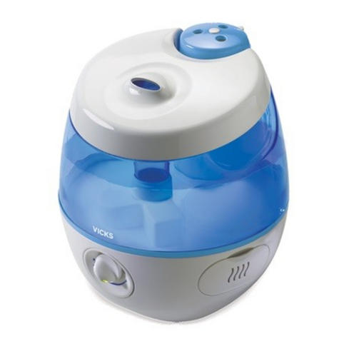 Vicks Sweet Dreams Cool Mist Humidifier with Image Projector 2 in 1 | Safe & Quiet Thumbnail 3