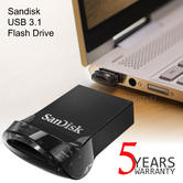 SanDisk 256GB Ultra Fit USB 3.1 Flash Stick | Pen Memory Drive | High Speed | 130MB/s | For Laptop & PCs