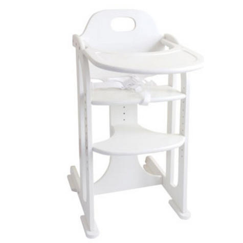 East Coast Multi Height Highchair | Kids Chair With Adjustable Seat+Footrest | White Thumbnail 2
