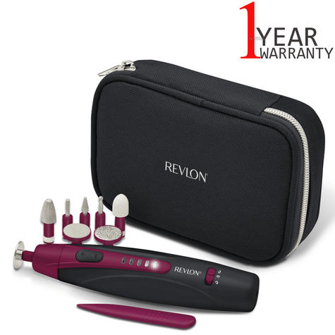 Revlon Travel Chic Manicure & Pedicure Set | Portable & Rechargeable | 9 Attachments Thumbnail 1