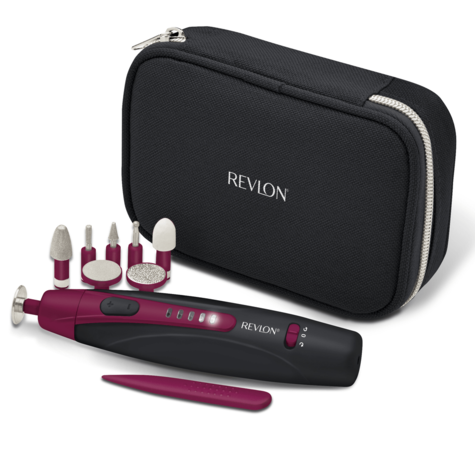 Revlon Travel Chic Manicure & Pedicure Set | Portable & Rechargeable | 9 Attachments Thumbnail 2