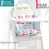 East Coast Nursery Dinner/MealTime Highchair Insert | Padded Cushion With Comfort