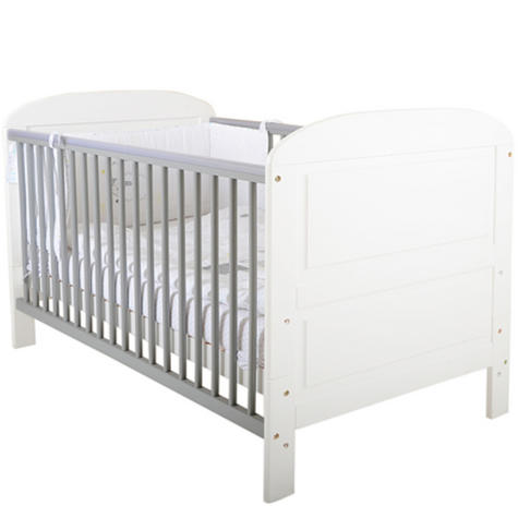 East Coast Angelina Cot Bed | Baby/Kids Cot With 2 Protective Teething Rails | White Thumbnail 3