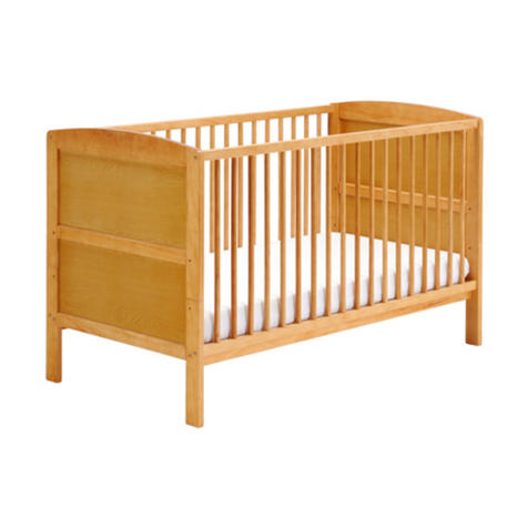 East Coast Hudson Cot Bed | Baby/Kids Convertible Bed With 3 Base Position | Antique Thumbnail 3