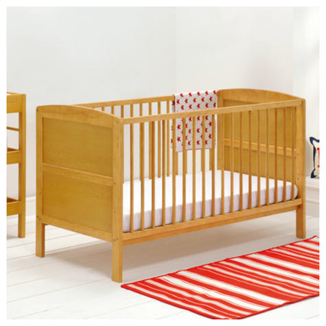 East Coast Hudson Cot Bed | Baby/Kids Convertible Bed With 3 Base Position | Antique Thumbnail 4