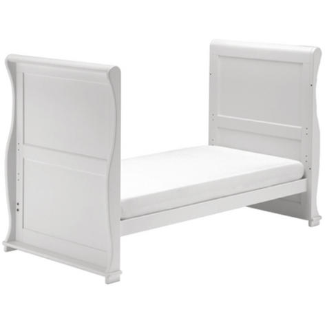 East Coast Nursery Alaska Sleigh Cot Bed | With Drawer+Protective Teething Rails | White Thumbnail 4