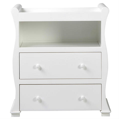East Coast Nursery Alaska Dresser | Sleigh Shape+2 Storage Drawers+Open Area | Grey Thumbnail 2