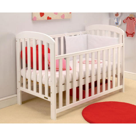 East Coast Anna Drop Side Cot | 3 Base Heights + 2 Protective Teething Rails | White Thumbnail 2