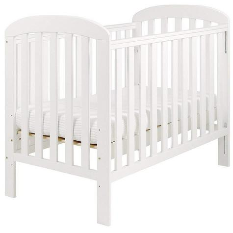 East Coast Anna Drop Side Cot | 3 Base Heights + 2 Protective Teething Rails | White Thumbnail 3