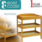 East Coast Clara Dresser | Baby/Kids Storage Shalves/ Table & Towel Rail | Antique