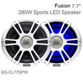 Fusion CL77SPW 7.7'' Marine 2 Way Signature Sports LED Speaker|4 Ohms|IP65|White