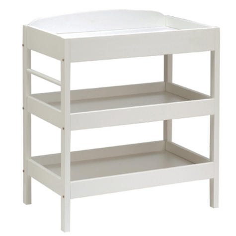 East Coast Clara Dresser | Child/Baby/Kids Storage Shalves/ Table & Towel Rail | White Thumbnail 2