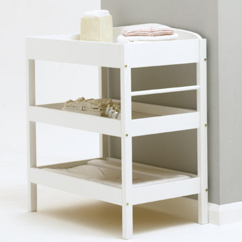 East Coast Clara Dresser | Child/Baby/Kids Storage Shalves/ Table & Towel Rail | White Thumbnail 3