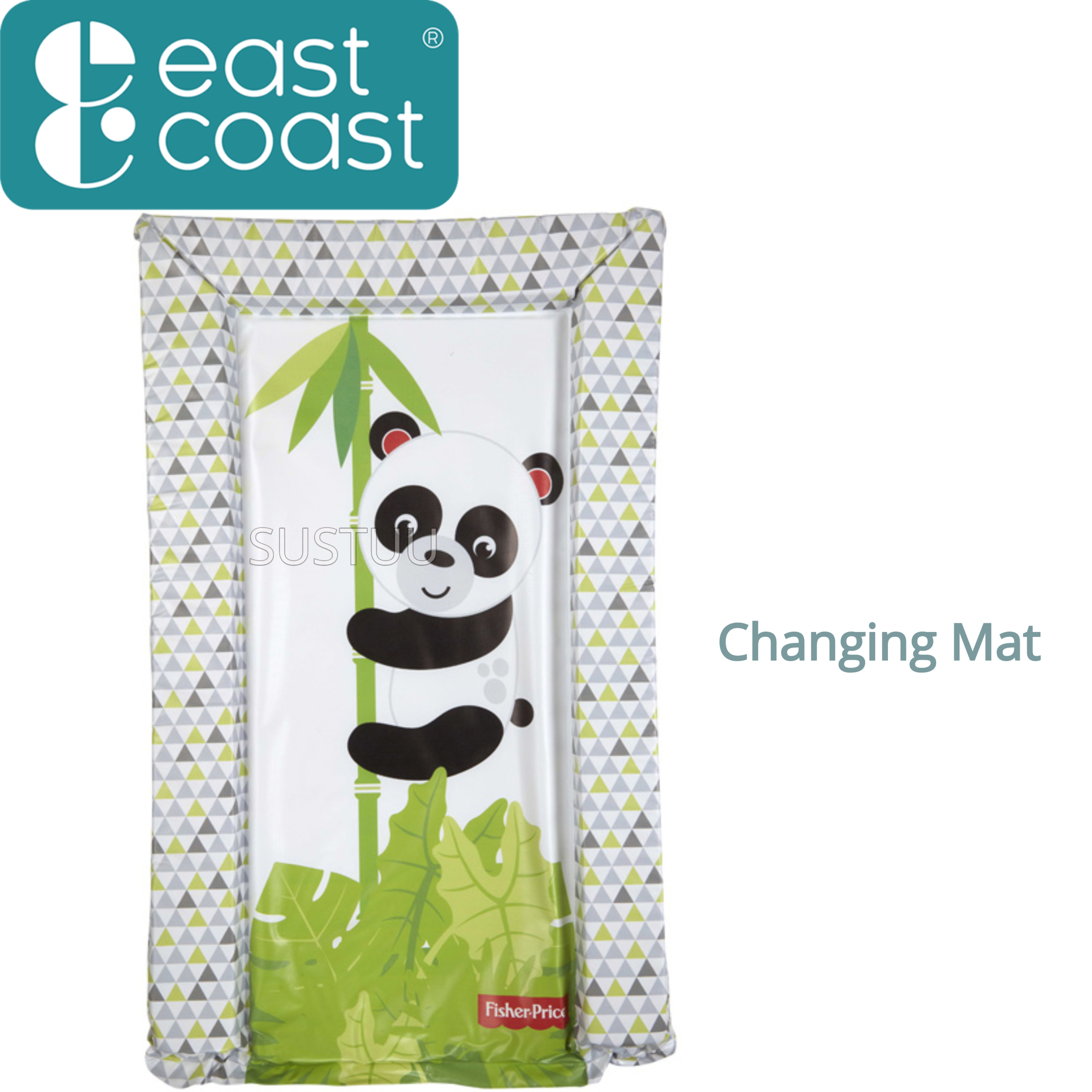 Fisher-Price Baby's Nappy Changing Mat -Panda Hugs | Comfort+Easy To Wipe | +0 Month