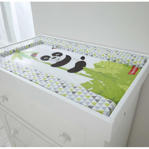 Fisher-Price Baby's Nappy Changing Mat -Panda Hugs | Comfort+Easy To Wipe | +0 Month Thumbnail 3