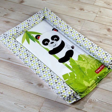 Fisher-Price Baby's Nappy Changing Mat -Panda Hugs | Comfort+Easy To Wipe | +0 Month Thumbnail 4
