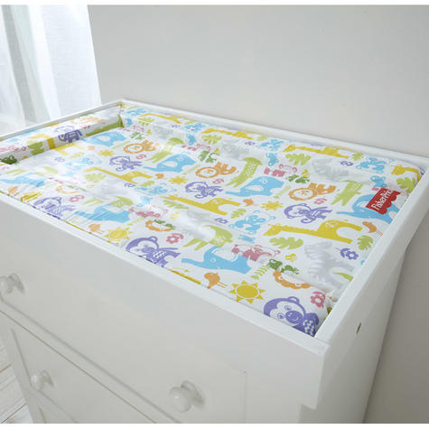 Fisher-Price Baby's Nappy Changing Mat - Jungle Puzzles | Comfort+Easy To Wipe | 0m+ Thumbnail 3