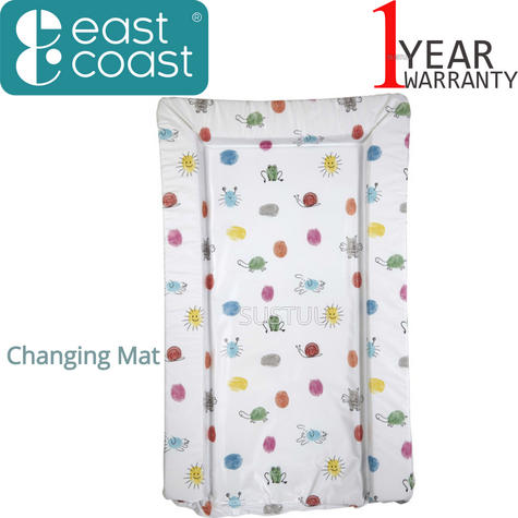 East Coast Baby's Nappy Changing Mat - Animal Antics | Comfort+Easy To Wipe | 0m+ Thumbnail 1