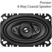 "Pioneer 4"" x 6"" 4-Way Coaxial Replacment Car/Van Speaker System 