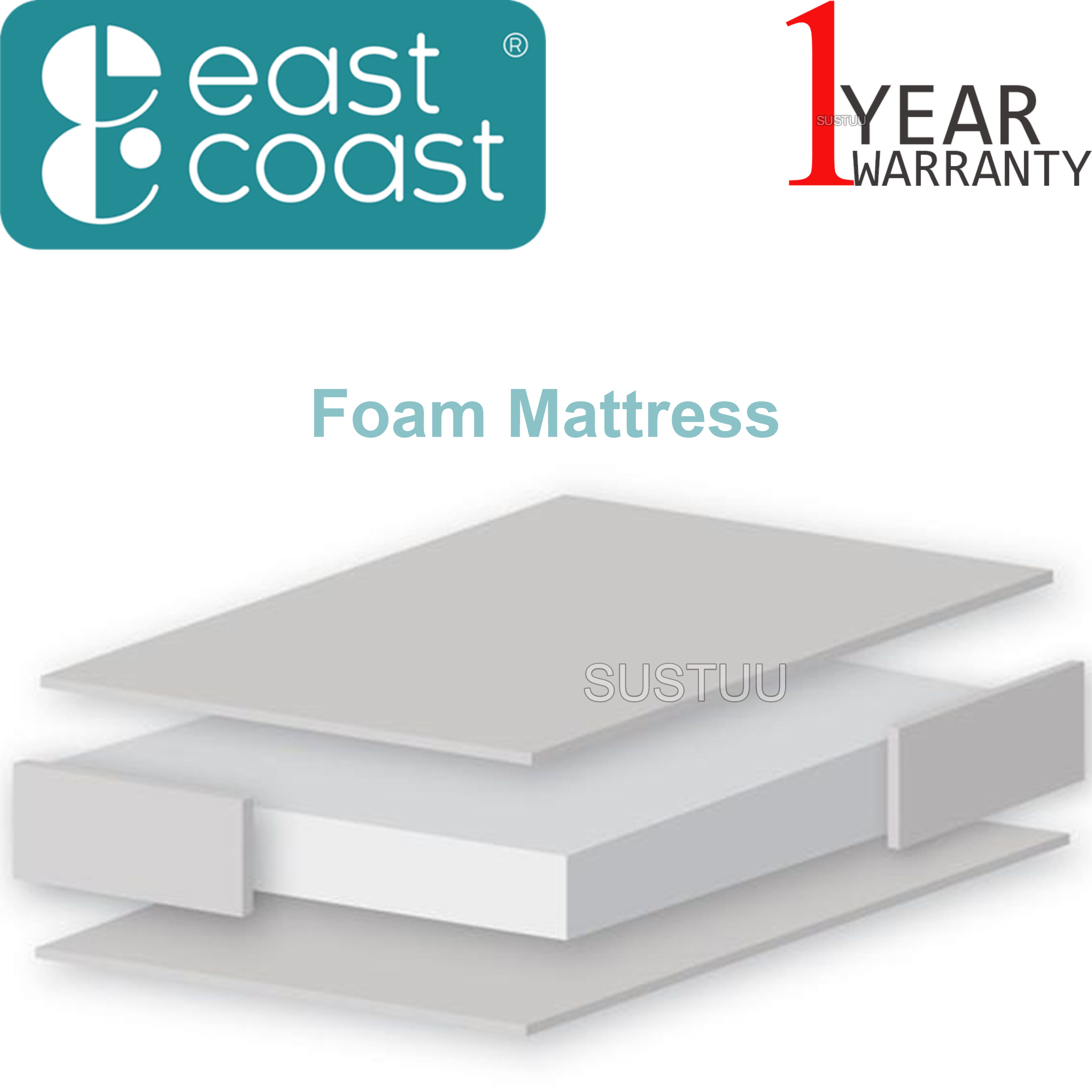 East Coast Swinging Crib Mattress (89 cm x 39.5 cm) | Soft, Comfortable & Safe | New