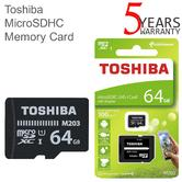 Toshiba M203 64GB Class 10 U1 MicroSD Card with Adapter | 100MB/s | For Phone & Camera