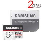 Samsung 64GB PRO Endurance MicroSDHC Memory Card with Adapter | MB-MJ64GA/EU | For Security Cams & Dash Cams