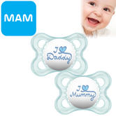 MAM Style Soother | Comfortable | Use Box As Steriliser & Travel Case | +0m | Blue | 2Pk