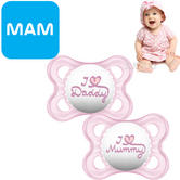 MAM Style Soother | Comfortable | Use Box As Steriliser & Travel Case | +0m | Pink | 2Pk