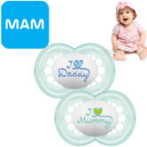 MAM Style Soother | Comfortable | Use Box As Steriliser & Travel Case | +6m | Blue | 2Pk