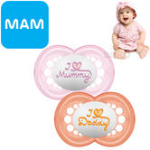 MAM Style Soother | Comfortable | Use Box As Steriliser & Travel Case | +6m | Pink | 2Pk